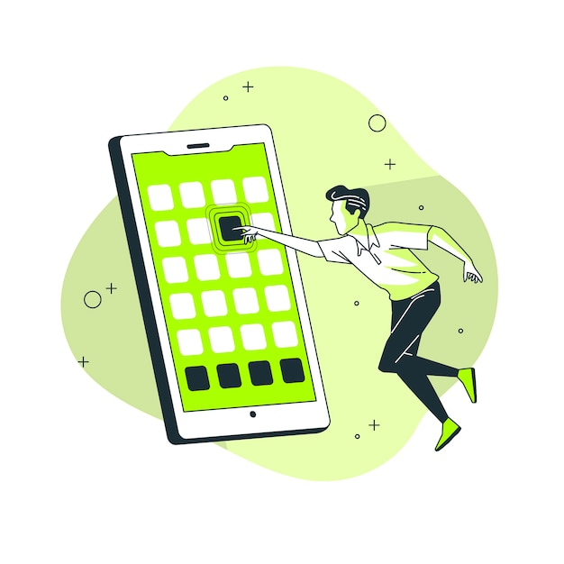 Mobile apps concept illustration Free Vector