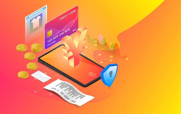 Mobile banking, online banking, e-banking system, online payment system, use mobile banking application, premium vector Premium Vector