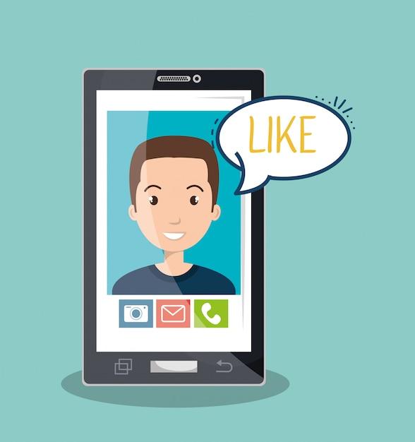 Mobile chat design Premium Vector