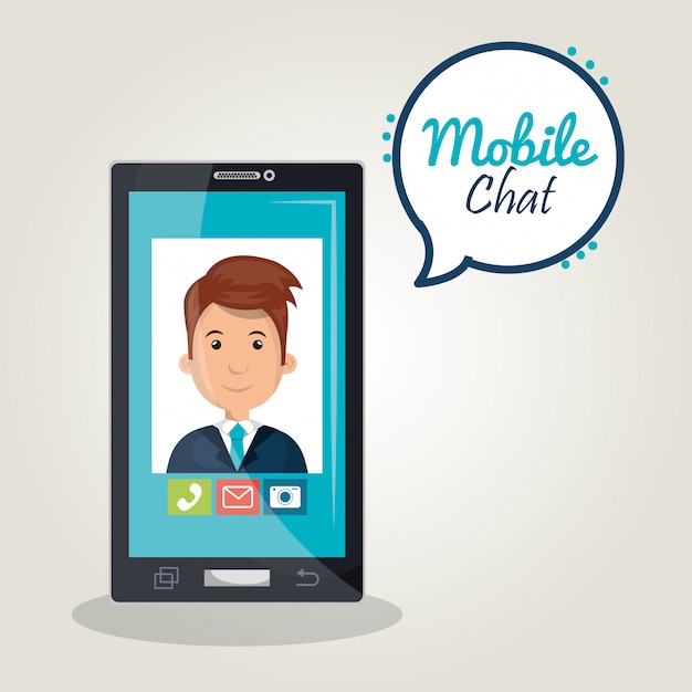 Mobile chat Free Vector