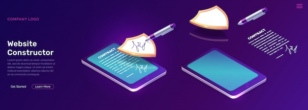 Mobile document manager business Free Vector