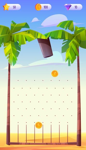 App di gioco mobile, interfaccia dell'applicazione Vettore gratuito