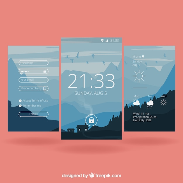 Mobile Landscape Wallpapers Vector Free Download