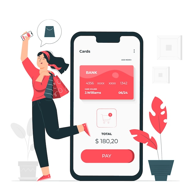 Mobile payments concept illustration Free Vector