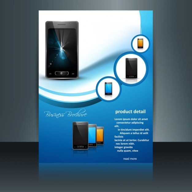 Mobile phone brochure Free Vector