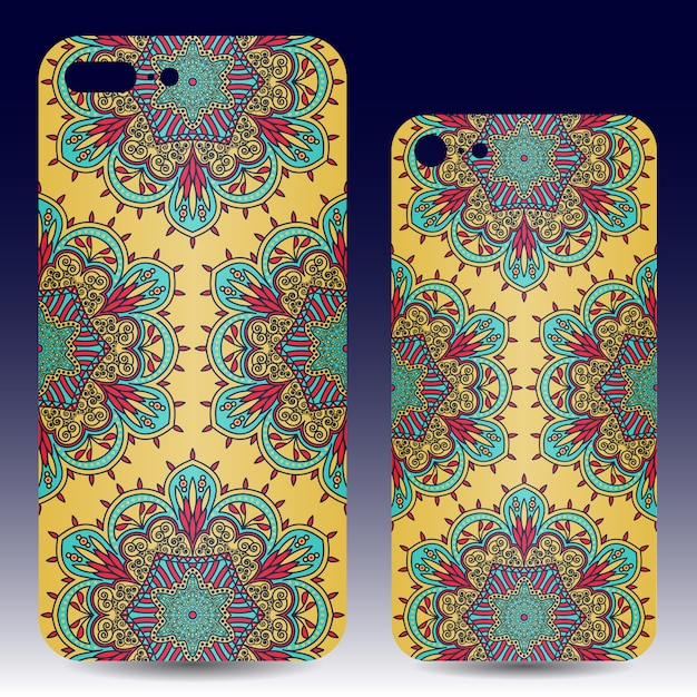 Mobile phone case design Free Vector