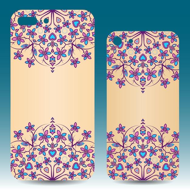 Mobile phone case design Free Vector
