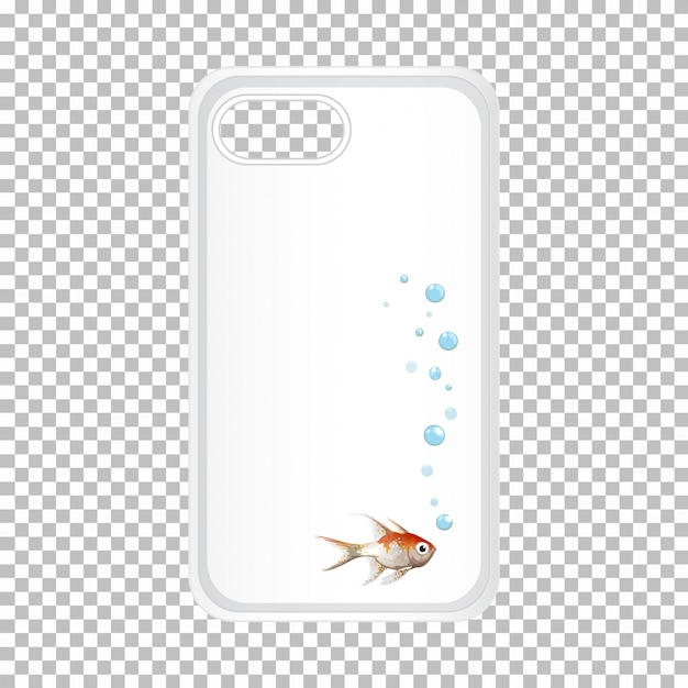 Mobile phone case with fish Free Vector
