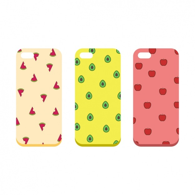 Mobile phone cases collection Free Vector