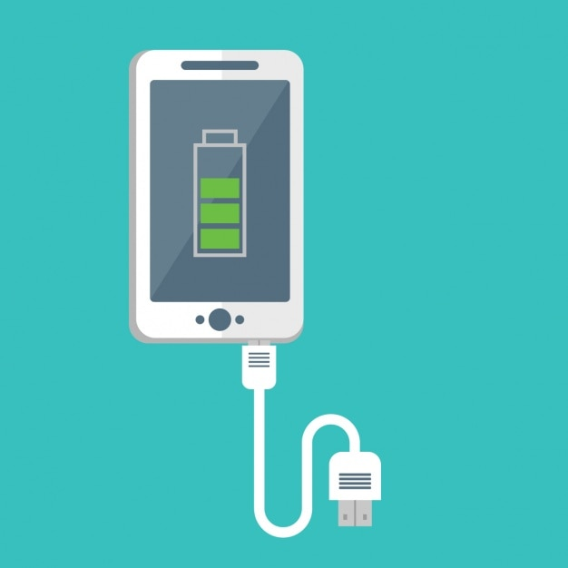 Mobile phone charging design Free Vector
