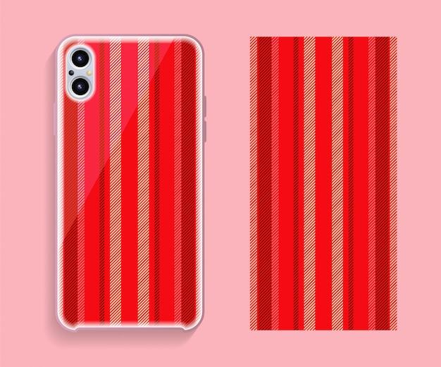 携帯電話カバーデザイン。テンプレートスマートフォンケースベクトルパターン。 Premiumベクター