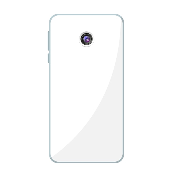 Mobile phone design with rear camera Premium Vector