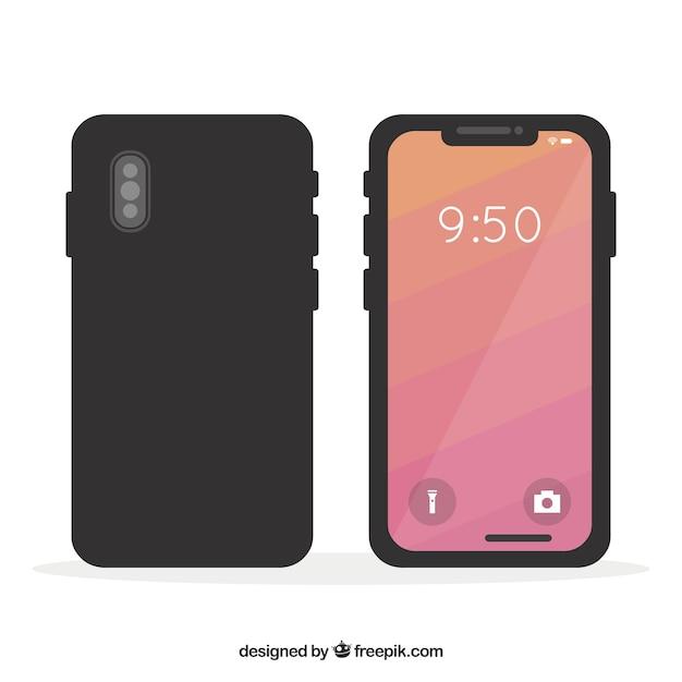 Mobile phone design Free Vector