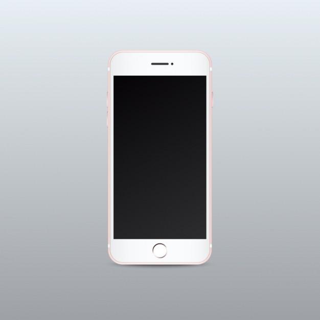 Mobile phone mock up design Free Vector