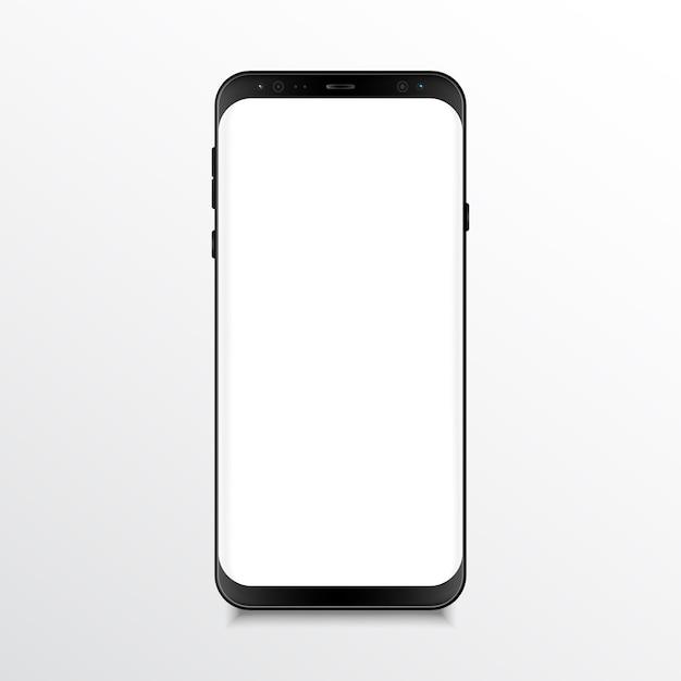 Mobile phone realistic mock up Premium Vector