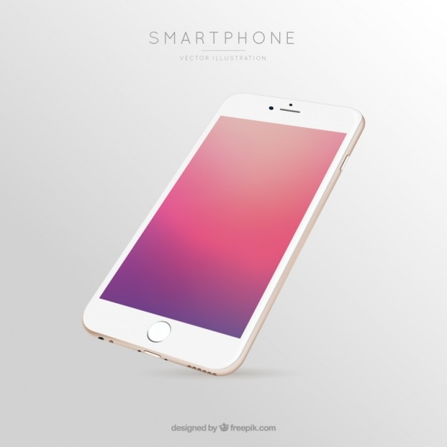 Mobile screen of colored gradients Free Vector