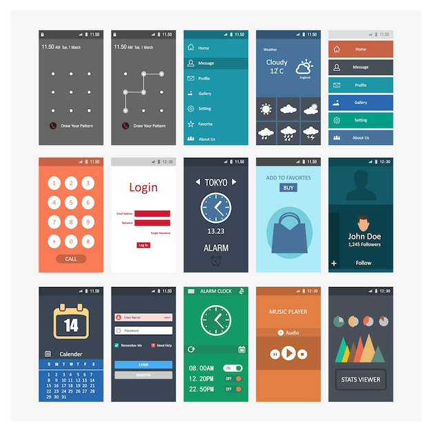 Mobile screenshots templates vector free download for Free mobile site template download
