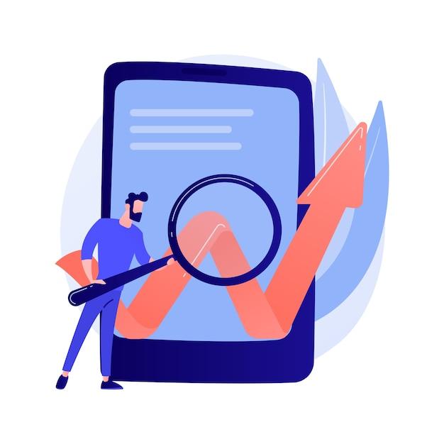 Оптимизация мобильного по. развитие бизнеса, запуск, запуск. смартфон изолированных плоский дизайн элемент концепции иллюстрации Бесплатные векторы