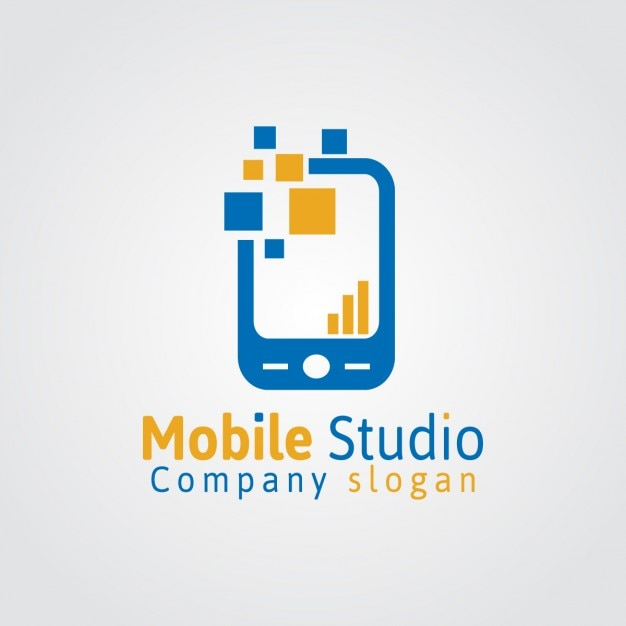 mobile studio logo vector free download