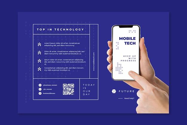 Mobile tech banner template Free Vector