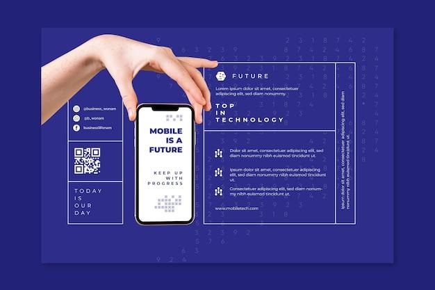 Modello di banner tecnologia mobile Vettore gratuito