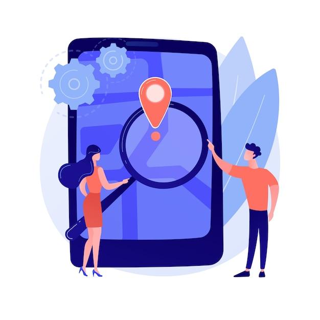 Illustrazione di concetto astratto morbido di monitoraggio mobile Vettore gratuito