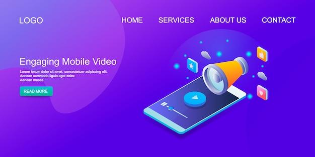 Mobile video Premium Vector