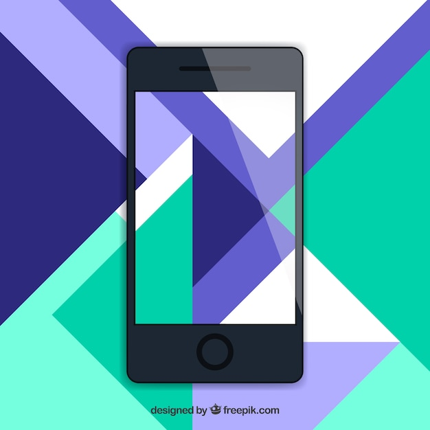 Mobile wallpaper with modern abstract shapes