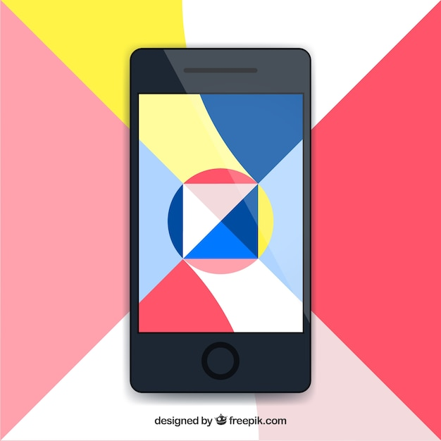 Mobile wallpaper with modern geometric shapes