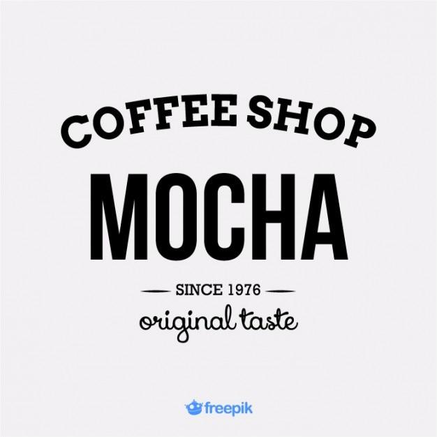 Mocha Logo Design  Free Vector