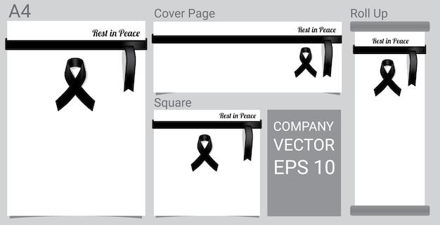 Mock Up Mourning Symbol Vector Premium Download