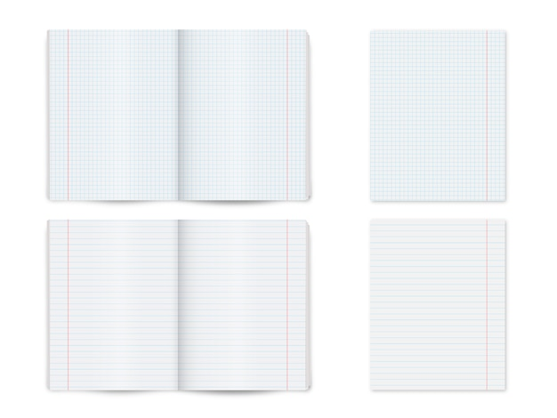 Mock up note book, notepad, book isolated Premium Vector