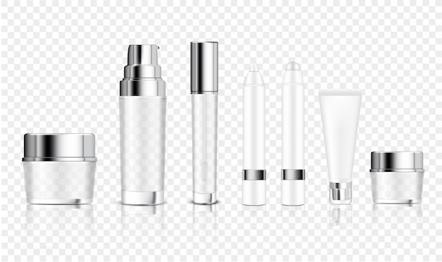 Mock up realistic transparent bottle Premium Vector