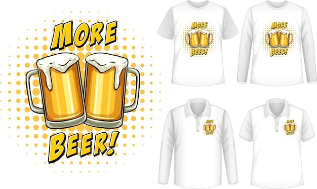 Mock up shirt with beer logo Free Vector