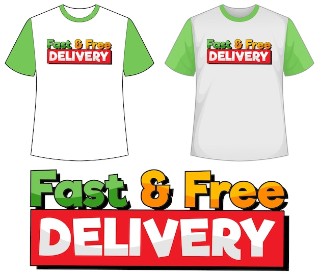 Mock up shirt con l'icona di consegna Vettore gratuito