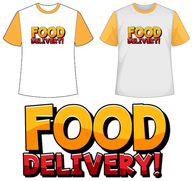 Mock up shirt with food delivery icon Free Vector