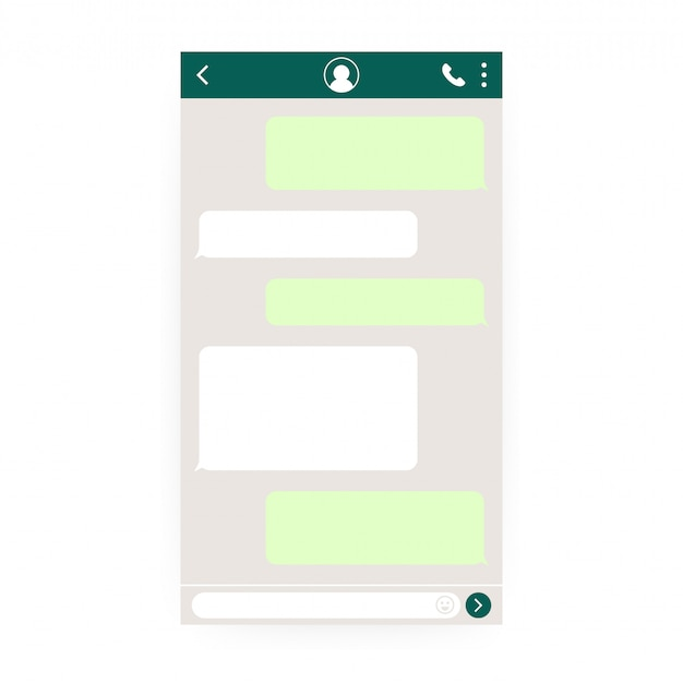 Mockup of mobile messenger. Premium Vector