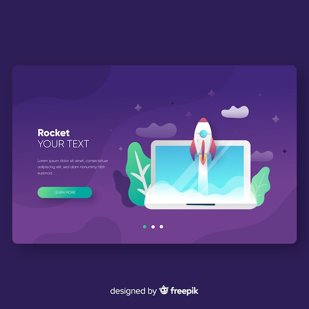 Moderm landing page template Free Vector