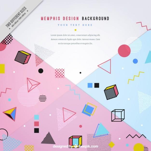 Moderm with geometric figures background Premium Vector