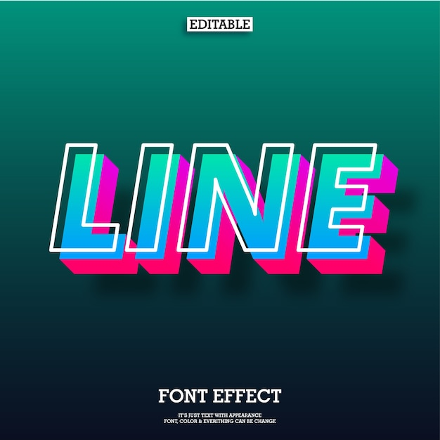 Modern 3d floating text effect for cool futuristic effect Premium Vector