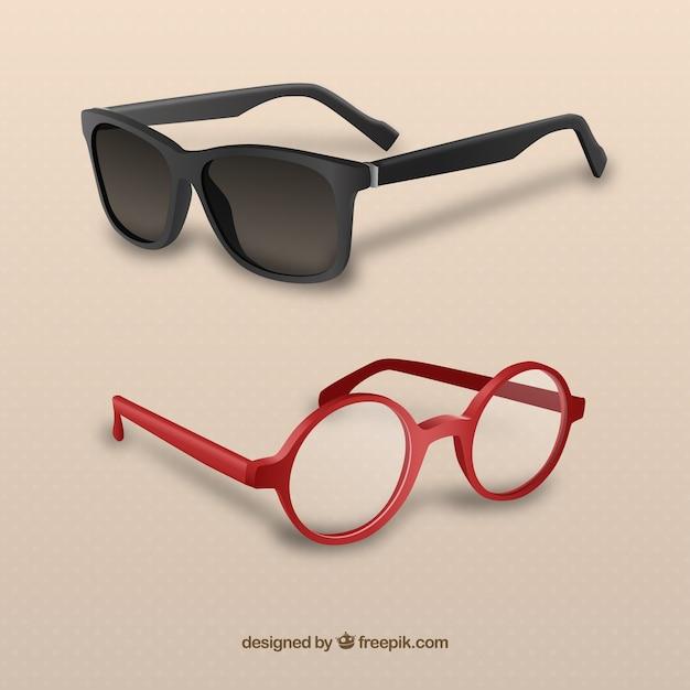 Modern 3d glasses Premium Vector