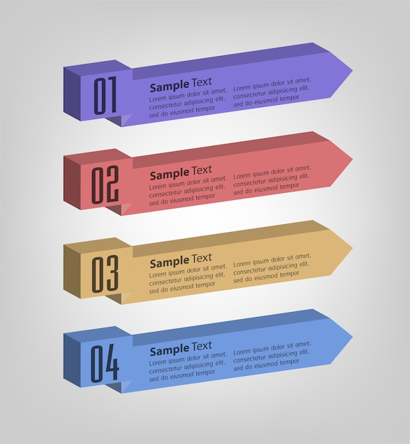 Modern 3d text box template, banner infographics Premium Vector
