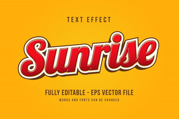 Modern 3d text effect editable font effect Premium Vector