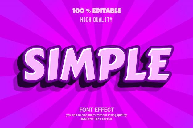 Modern 3d text effect, editable font effect Premium Vector