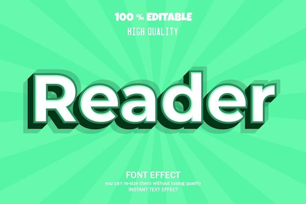 Modern 3d text effect   font effect Premium Vector