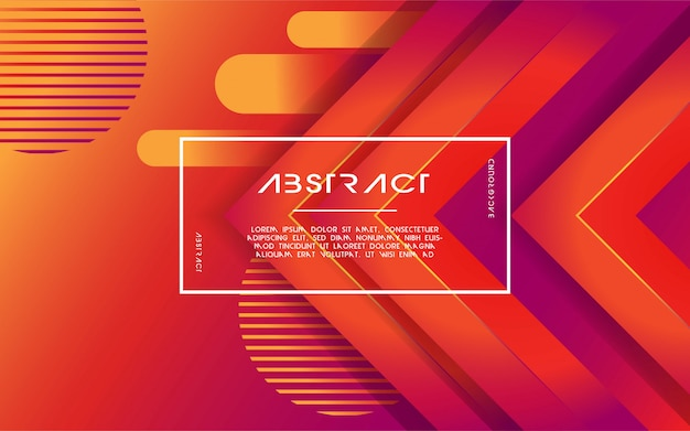 Modern abstract 3d triangle gradient background Premium Vector