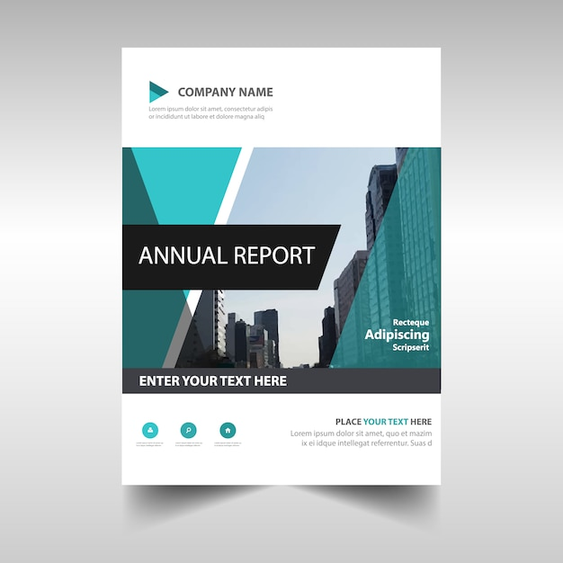Modern abstract annual report design