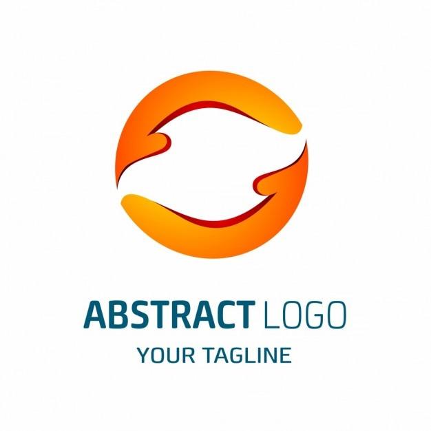 Modern abstract arrows logo