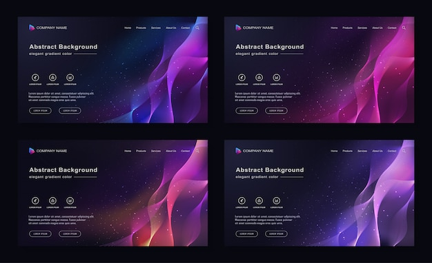 Modern abstract background gradient galaxy space color landing page Premium Vector