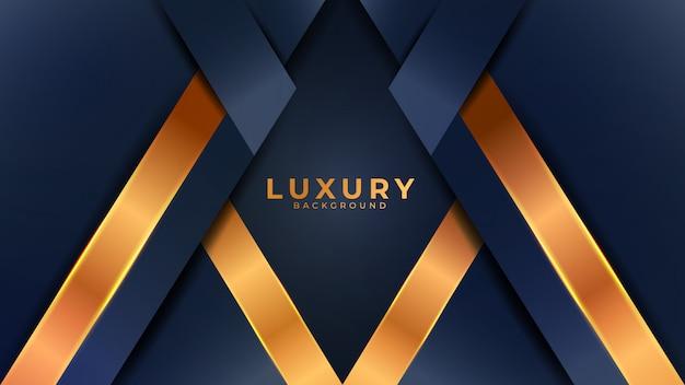 Современный абстрактный фон с комбинацией светящегося золотого света Premium векторы
